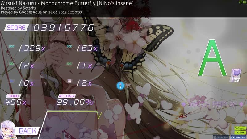 Osu!|Monochrome Butterfly [Ninos Insane] 450x474x с HD 4.44☆ 99.00 120pp
