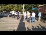 Девочку 12 лет сбили на Кубяка. Первые кадры с места происшествия