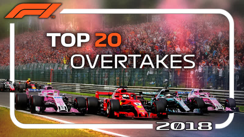 F1 2018 Top 20 Overtakes (HD)