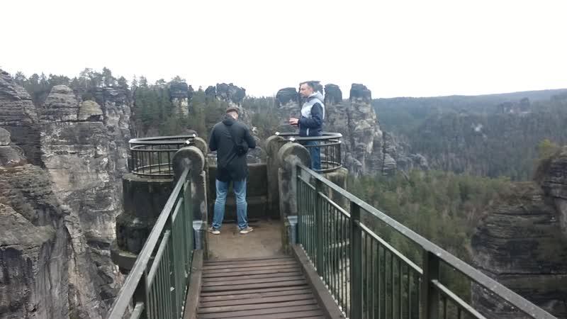 Саксонская Швейцария мост Бастай ( видео было снято 12.03.2019 гидом Владиславом )