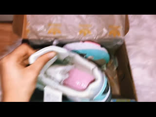 Adidas falcon бело-голубые