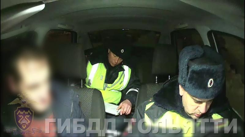 Задержание нетрезвого водителя по сообщению активистов Ночного патруля