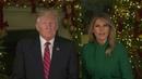 Поздравление с Рождеством Христовым Дональд и Мелания Трамп 2019