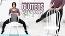 GymVirtual - Ejercicios de glúteos y piernas con una silla | Тренировка без прыжков со стулом