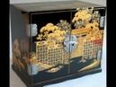 Лаковая миниатюра Японии Золотые сокровища страны