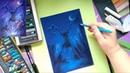 Как нарисовать сказочного оленя пастелью