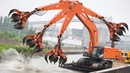 Heavy Dangerous Large Work Excavator Machines Destroy Everything Fastest Technology Construction