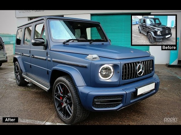 Mercedes AMG G63 3M 1080 M-27 Full Matte Dark Navy Wrap