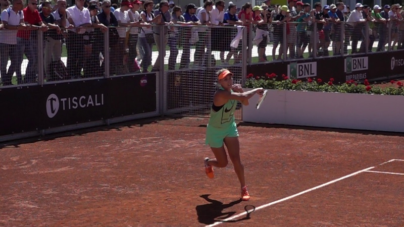 Elena Vesnina Two Forehands Slow Motion