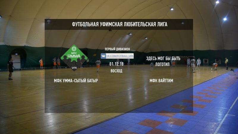 Футбол Уфа Обзор матча | МФК Умма-Сытый батыр - МФК ВайТТим