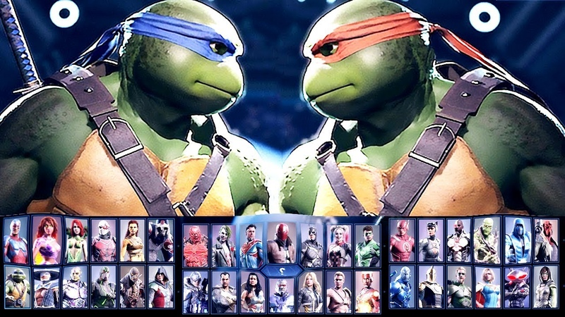 Injustice 2 All Characters Unlocked ALL DLC CHARACTERS COMPLETE ROSTER Ninja Turtles