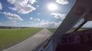 Airport DRESDEN Klotzsche Airbus A320 landing Pilot's view