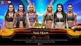 WWE 2K19 Absolution vs Riott Squad 6 Women Tag Team Match Entrances &amp Gameplay! (Xbox One X)