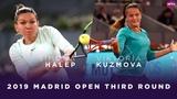 Simona Halep vs. Viktoria Kuzmova 2019 Madrid Open Third Round WTA Highlights