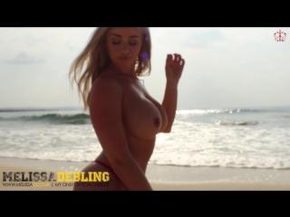 Melissa Debling - Naked On The Beach Busty fitness blonde Big Tits model boobs голая грудастая сочная девушка