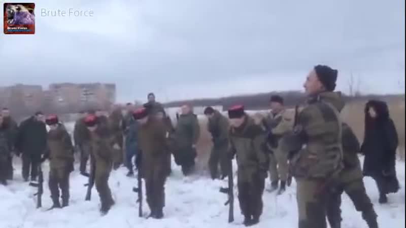 Луганск.6 января,2015.Похороны парней Бэтмена и самого командира подразделения А