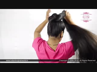 Dussehra Special Hairstyle for Very Long Hair _ Easy  Simple Navaratri Hairstyles for Long Hair