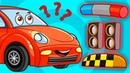 Веселые Машинки – Такси Новая Серия - Развивающие Мультики и Песенка Для Малышей