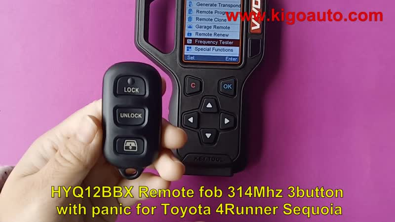 HYQ12BBX Remote fob 314Mhz 3button with panic for Toyota 4Runner Sequoia