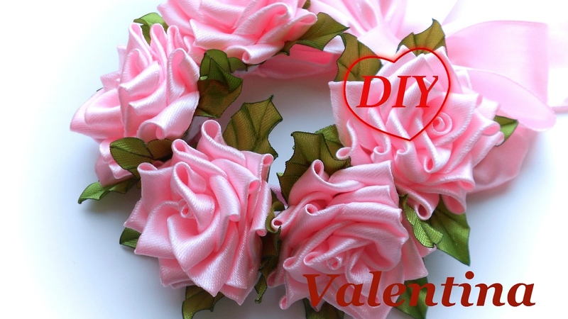 Резинка повязка на гульку Розовые мечты DIY the hair ornament with roses