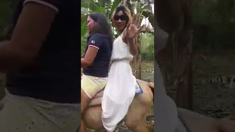 Beautiful women from philippines riding a pony in Masbate city( Vlog Rosie)