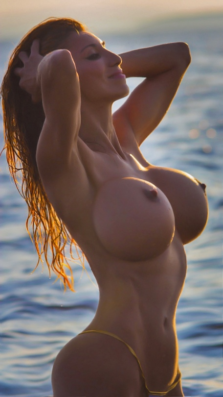 Sexy vollbusige Teenager Brnette auf Webcam