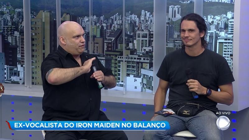 Ex-vocalista do Iron Maiden faz show exclusivo no Balanço Geral MG