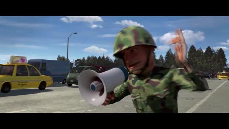 HD Монстры против пришельцев ( мультфильм, 2009 ) момент 8 Cражение на мосту часть 2.mp4