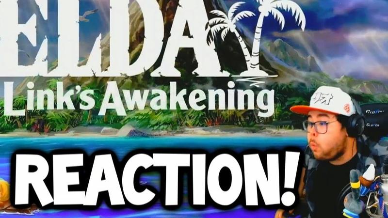 INSANE ZELDA *LINKS AWAKENING* REACTION! (NINTENDO DIRECT 2019)