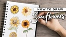 How to Draw Sunflowers! | DOODLE WITH ME Tutorial!