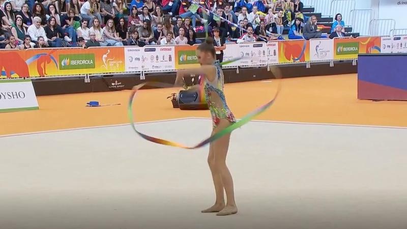 Анастасия Сергеева лента многоборьеЧемпионат Европы Гвадалахара 2018