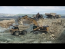 Two Cat 385C Excavators Loading Dumpers - Sotiriadis Brothers