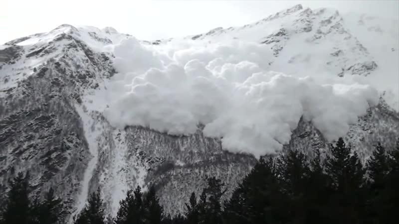 Сход лавины Чегет