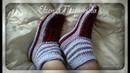 Домашние носочки сапожки вязание спицами