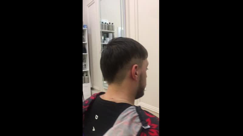 Мужская стрижка двойная форма