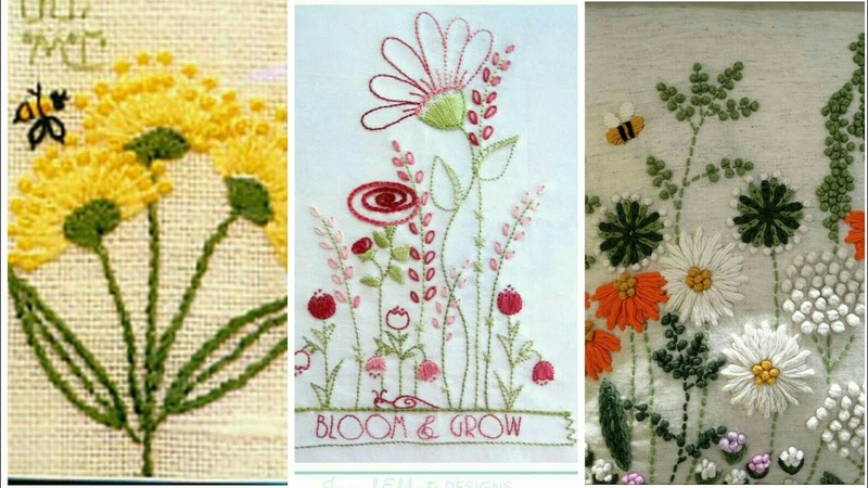 Amazing Beautiful Embroidery With various Stich Techniques Hand embroidery Flowers