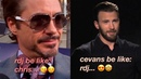 Robert downey jr and chris evans being the best marvel duo for 8 minutes straight