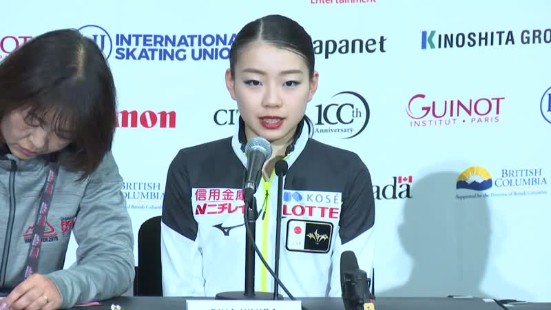 GP Final 2018    Ladies Press Conference after FS