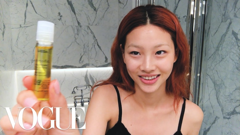Korean Model Hoyeon Jung's Steps for Perfect Skin and a Two Tone Lip Beauty Secrets Vogue