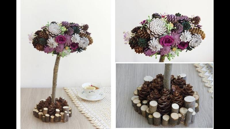 DIY Топиарий Topiary Tree, Wedding Topiary Tree, Rose Tree, Table Decoration