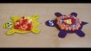 Черепашки. Поделки из цветной бумаги и салфеток для детей. Аппликации для малышей 2- 3 лет.