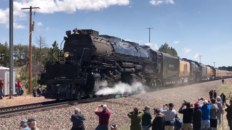 Big Boy 4014 The Living Legend 844 Double Heading Harriman Wyoming 4K Wheel Slip Steam Engine