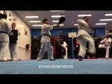 Связки и комбинации. Гяку цуки, Лоукик, Уширо Маваше в подготовке бойца Кёкусинкай карате. http://vk.com/oyama_mas