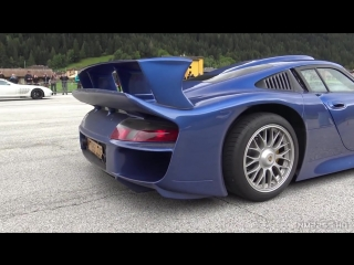 #Porsche 911 #GT1 Strassenversion Goes DRAG RACING! - Start Up Full Throttle Accelerations!