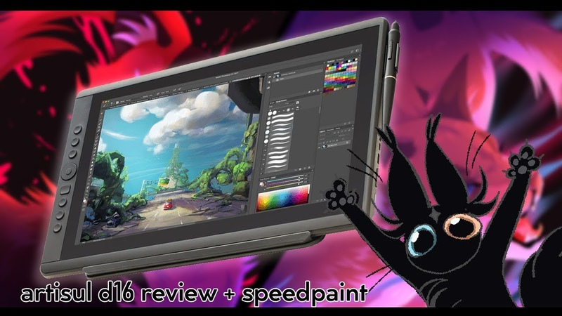 Artisul d16 tablet review thumbnail speedpaint!!
