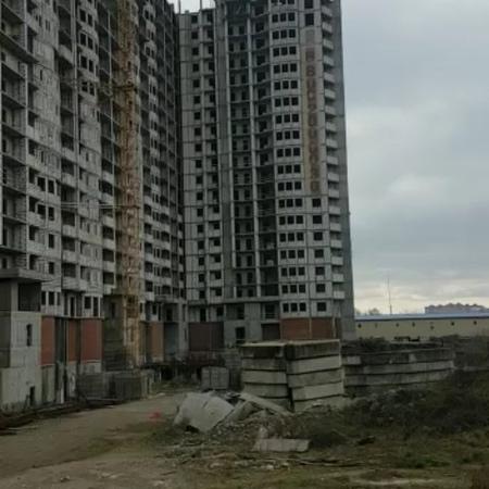 Строительный объект ЖК Мультиплекс-кино, Уральская улица 100-1005, Краснодар.