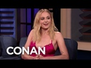 """Sophie Turner Blames Kit Harington For The Infamous """"Game Of Thrones"""" Coffee Cup - CONAN on TBS"""