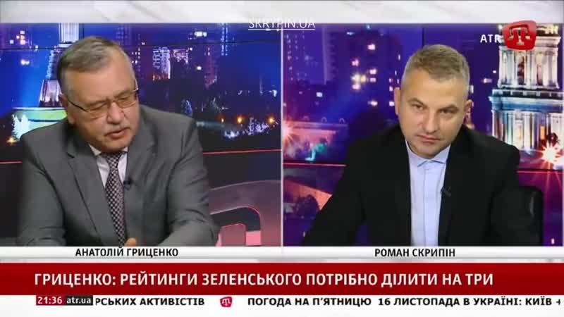 Анатолій Гриценко в програмі PRIME СКРИПІН (15.11.2018)
