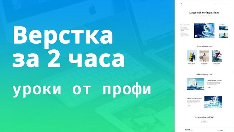 Верстка сайта HTML CSS За 2 Часа Из PSD С Нуля Полная версия