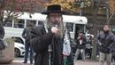 Protesting Israeli spokesman at City College of New York